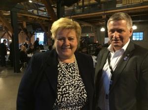 Statsministeren var på dialogmøte i Drammen