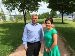 I dag var Liers ordfører og jeg på Brakerøya i det området det nye sykehuset skal ligge.